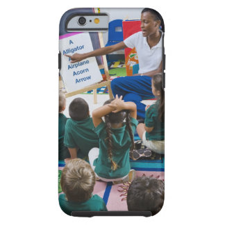 Teacher with preschool students in classroom tough iPhone 6 case