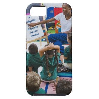 Teacher with preschool students in classroom iPhone 5 case