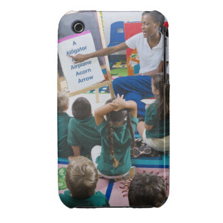 Teacher with preschool students in classroom iPhone 3 Case-Mate case