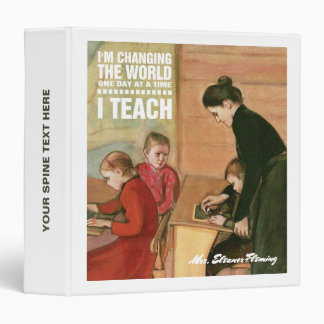 Teacher with students. Fine Art Gift Binders