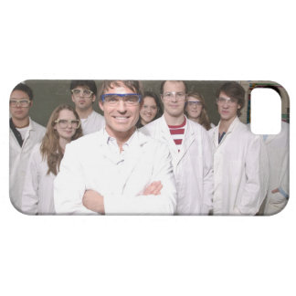 Teacher with students in science class iPhone 5 case