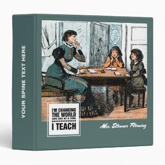 Teacher with students. Vintage Art Gift Binders