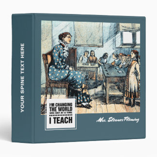 Teacher with students. Vintage Art Gift Binders