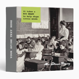 Teacher with students. Vintage Design Gift Binders