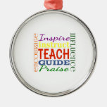 Teacher Word Picture Teachers School Kids Ornament