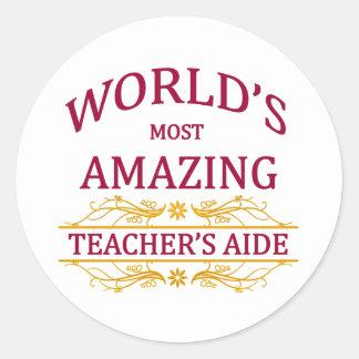 Teacher's Aide Classic Round Sticker