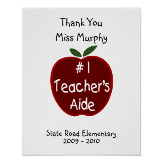 Teacher's Aide Signature Poster