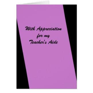 Teacher's Aide Thank You, Fuschia, Orchid Card