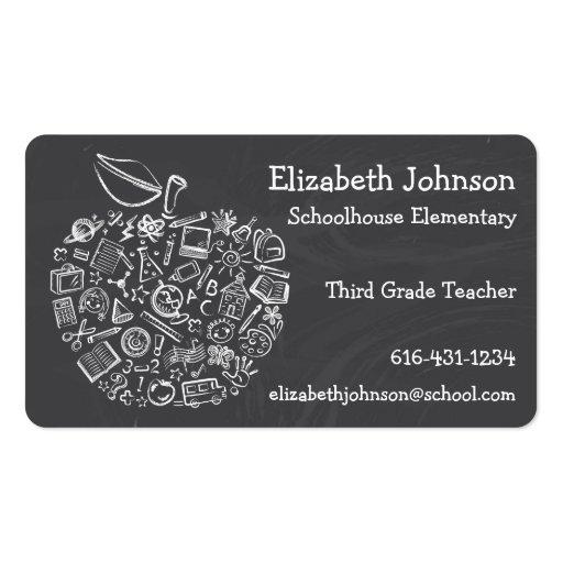 Teachers Apple Business Card