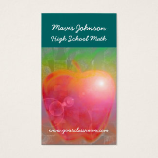 Teacher's Apple, Mavis Johnson, High School Mat... Business Card