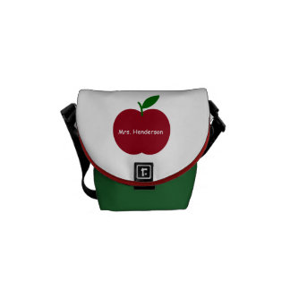 Teacher's Apple Personalized Commuter Bag