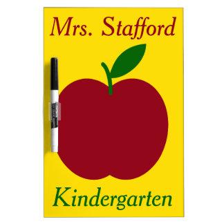 Teacher's Apple Personalized Dry Erase Board