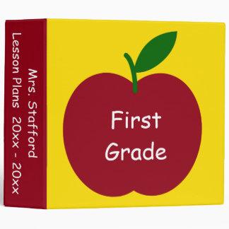 Teacher's Apple Personalized Lesson Plans Vinyl Binder