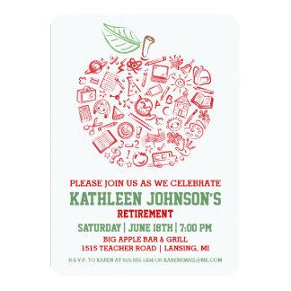 Teachers Apple Retirement Party Invitation