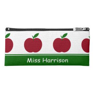 Teacher's Apples Personalized Pencil Case