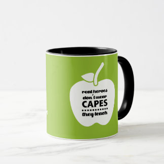 Teachers are Real Heroes. Quote Gift Mugs