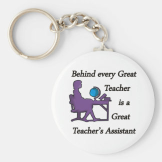 Teacher's Assistant Basic Round Button Keychain