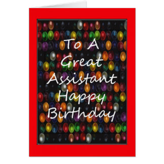 Teacher's Assistant Birthday Card