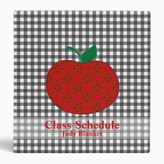 Teacher's Black & White Checkered Custom Vinyl Binders