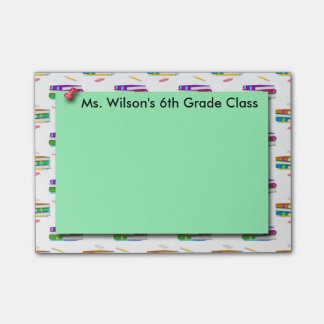 Teachers Books Green Paper Post-it® Notes