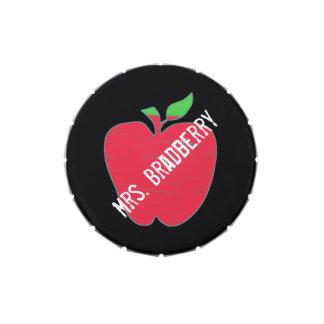 Teacher's Chalkboard Apple Custom Candy Tin