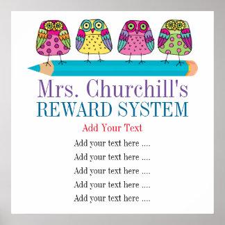 Teacher's Classroom Rules / REWARDS / Management Poster