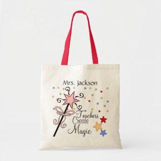 Teachers Create Magic by SRF Canvas Bags