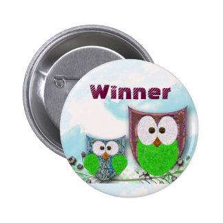 Teachers' customizable owl badge 2 inch round button