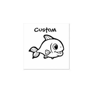 Teacher's customizable stamp - Cartoon Fish