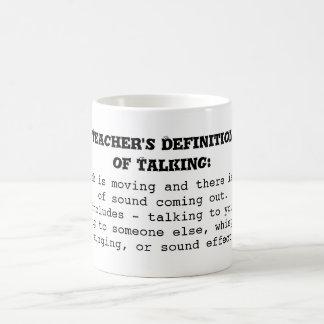 Teacher's Definition of Talking Basic White Mug