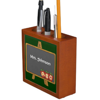 Teacher's Easel Blackboard Desk Organizer