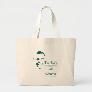 Teachers for Obama Large Tote Bag