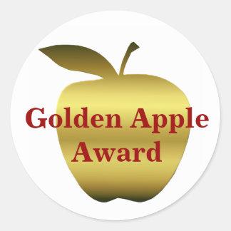 Teacher's Golden Apple Award Stickers