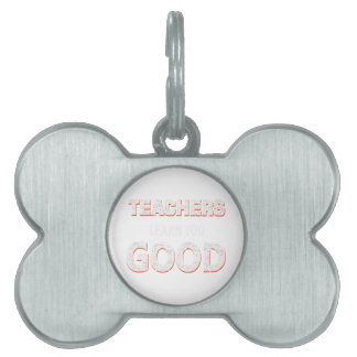 Teachers gonna learn you good pet ID tag