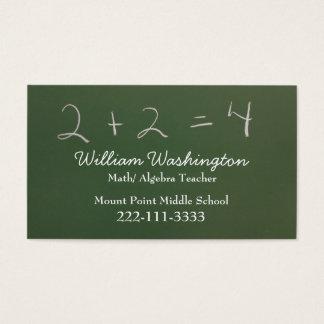 Teacher's Green Chalk Board Business Card