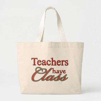 Teachers Have Class-Orange Large Tote Bag