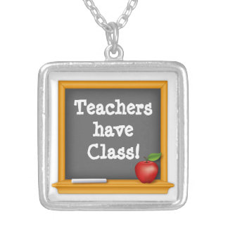 Teachers have Class! Silver Plated Necklace