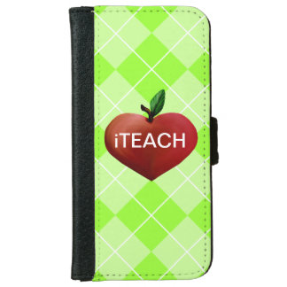 Teacher's Heart Apple iPhone 6 Wallet Case
