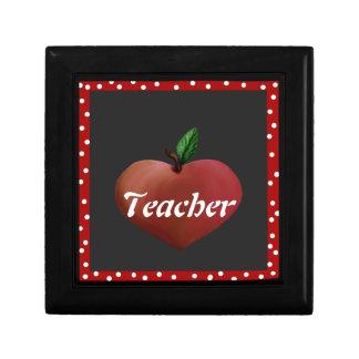Teacher's Heart Apple Tile Box