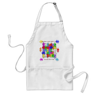 Teachers Help Make The Puzzle  Pieces Fit Standard Apron