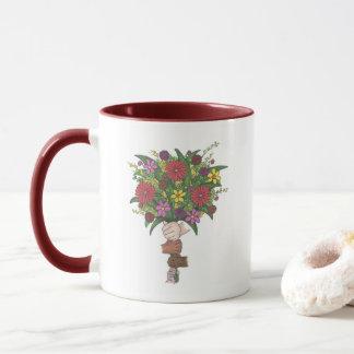 Teachers Help Us Grow Floral Flower Bouquet Mug