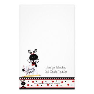 Teacher's Ladybug Stationery