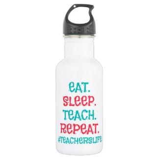 Teachers Life Water Bottle (18 oz), White