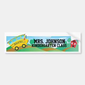 Teacher's Name and Classroom - Wall Sticker Bumper Sticker