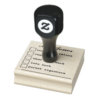 """Teacher's Notes"" Rubber Stamp"