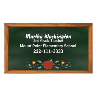 Teacher's Old Fashioned Chalk Board Business Card
