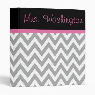 Teacher's Pink Black Lesson School Binder Gift