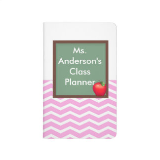 Teachers Pink Chevron Chalkboard Pocket Journal