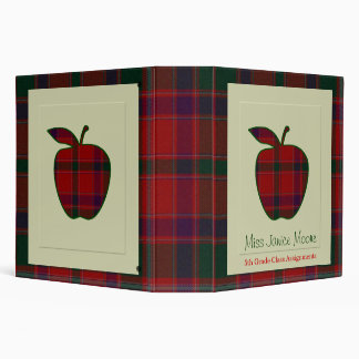 Teacher's Plaid Apple Binder
