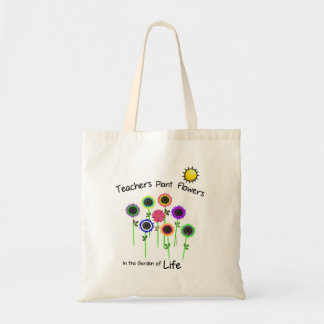 Teacher's Plant Flowers Budget Tote Bag